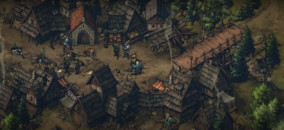 Скриншоты из видеоигры Thronebreaker: The Witcher Tales
